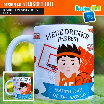 DESIGN SUBLIMATION HERE DRINKS BASKETBALL PLAYER