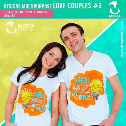 DESIGN SUBLIMATION MULTIPURPOSE LOVE COUPLES
