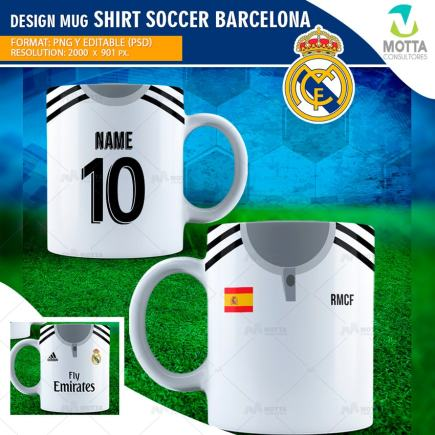 DESIGNS SUBLIMATION FOR MUG SHIRT SOCCER REAL MADRID