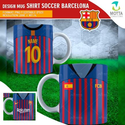 DESIGNS SUBLIMATION FOR MUG SHIRT SOCCER BARCELONA