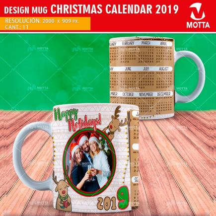 SUBLIMATION TEMPLATES MUGS CALENDARS 2019