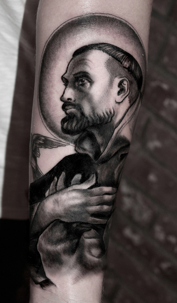 Religious Portrait Tattoo By Anderson Luna Design Of