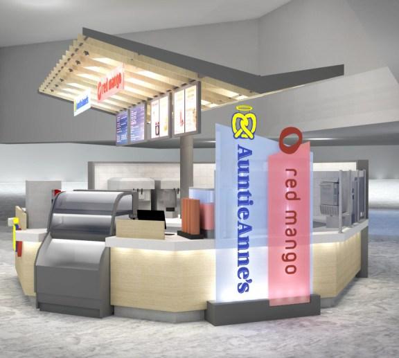Red Mango – Auntie Anne's Kiosk, JFK International, American Terminal
