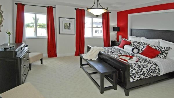 Not To Crazy About The Black And Red But My Husband Loves It Might Have To Consider This After All Red I Red Bedroom Decor Bedroom Red Stylish Master Bedrooms