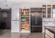 Gray Glass Kitchen Pantry