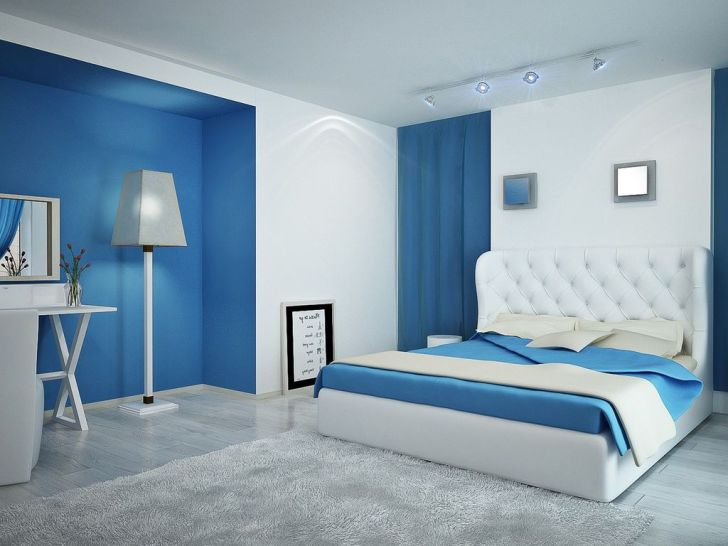 Get Modern Blue Bedroom Ideas Background
