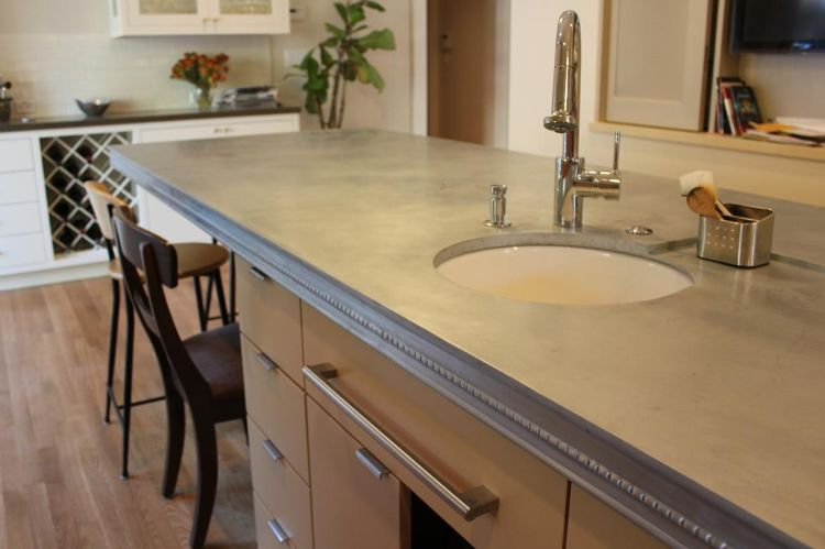 Zinc Countertops Are Trendy But What Are The Pros And Cons Houselogic Explains The Pros And Con Zinc Countertops Kitchen Zinc Countertops Kitchen Countertops