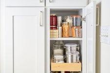 Narrow White Kitchen Pantry