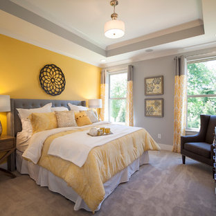 75 Beautiful Modern Yellow Bedroom Pictures Ideas January 2021 Houzz