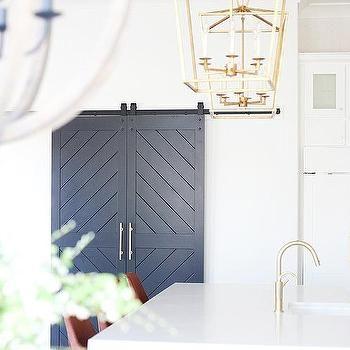 Black Chevron Pantry Doors On Rails Sliding Pantry Doors Luxury Interior Design Pantry Door