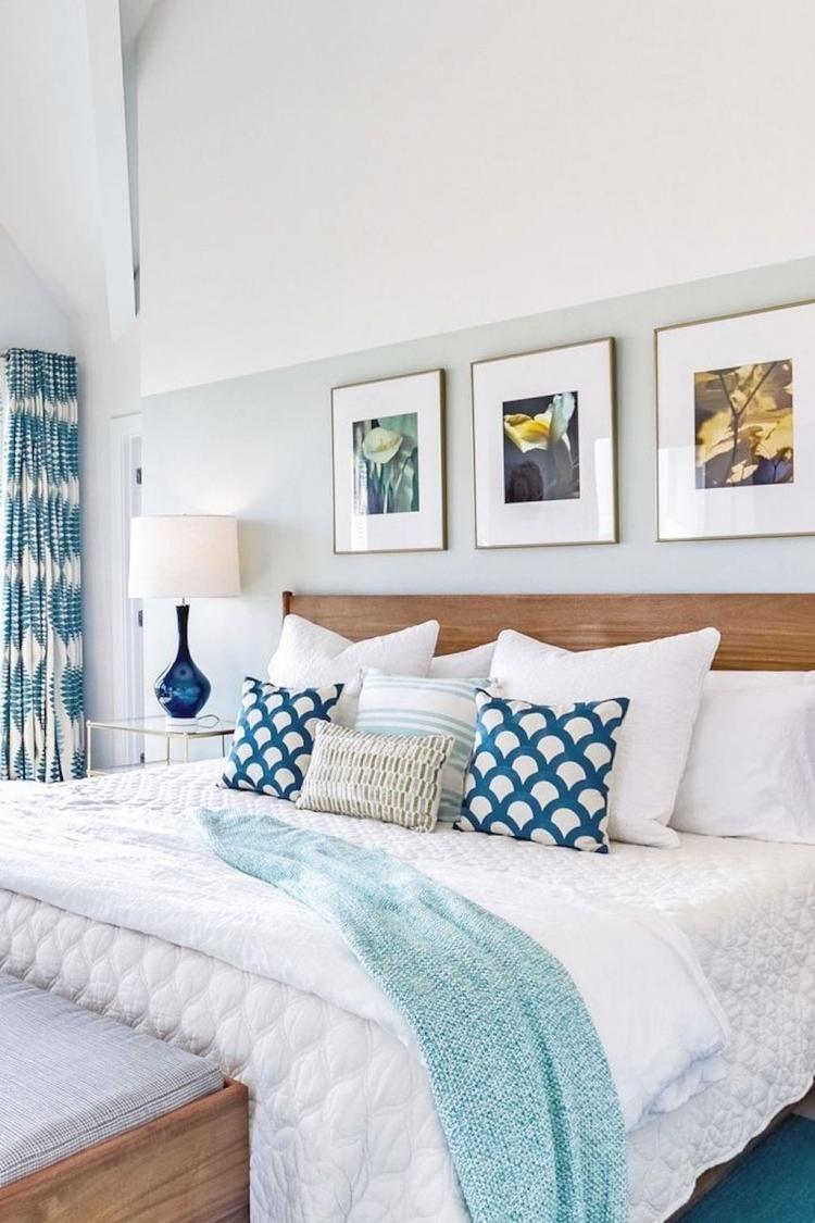 50 Romantic Coastal Bedroom Decorating Ideas Coastal Bedroom Decorating Neutral Bedroom Design Home Decor Bedroom