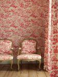 Red Toile De Jouy Bedroom Ideas