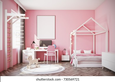 Pink White Bedroom Hd Stock Images Shutterstock