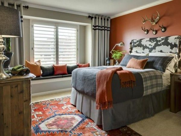Rust Coral Orange Fall Inspired Rooms Day 4 Loving Fall Boy Room Paint Gray Bedroom Walls Beautiful Bedrooms