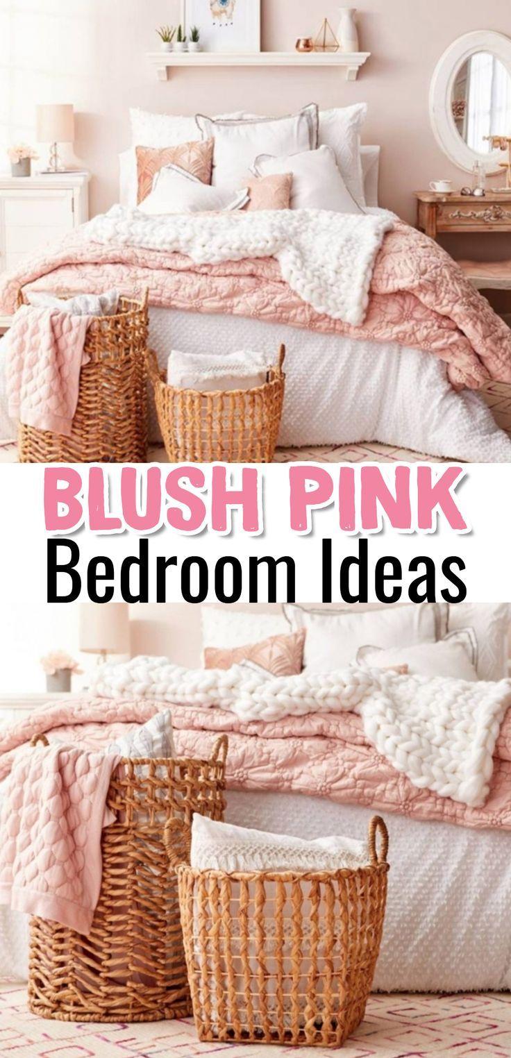 Blush Pink Bedroom Ideas Dusty Rose Bedroom Decor And Bedding I Love Dorm Inspiration Blush Pink Bedroom Dusty Pink Bedroom Pink Bedroom Decor