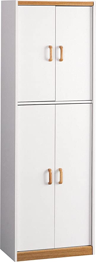 Amazon Com Ameriwood Home Deluxe 72 Kitchen Pantry Cabinet White Furniture Decor