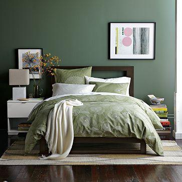 Low Wood Cutout Headboard West Elm Sage Green Bedroom Bedroom Green Green Bedroom Design