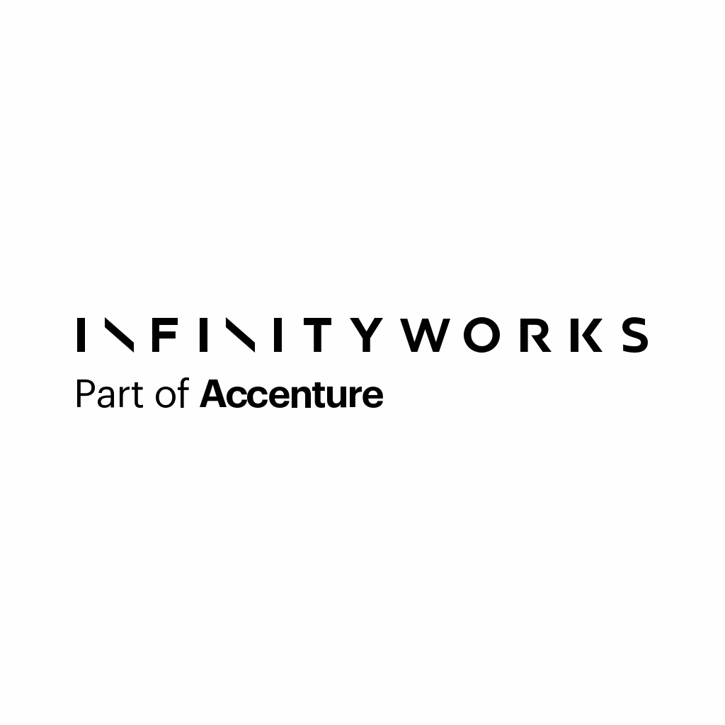 Button and Infinity Works logo leads to Infinity Works