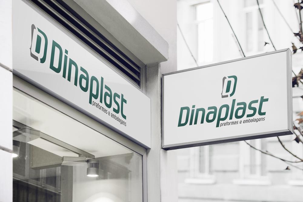 Logotipo e Identidade Visual Dinaplast - Fachada