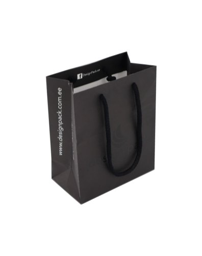 Paper bag with rope handles and UV-varnish