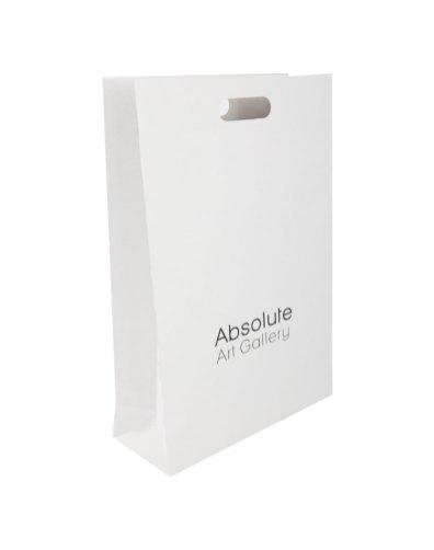 Craft paper bag with die cut handles, measurements 310x120x460mm