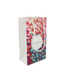 Matte laminated paper bag with rope handles, measurements 120x70x215mm