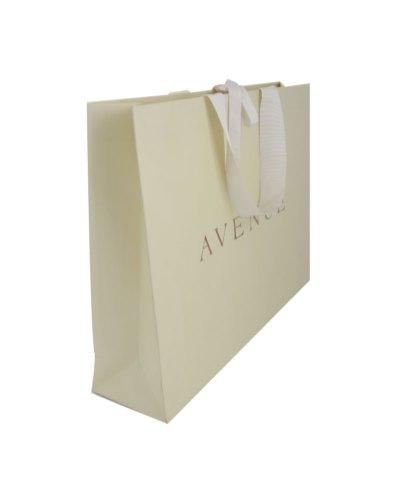 Paper bag with matte lamination, hot foil print, bindable, measurements 390x120x370mm