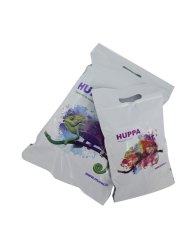 Huppa mailing bags with die cut handle and two peel & seal strips, measurements smaller one 240x350+60/handle 70mm, bigger one 350x520+65/handle 70mm