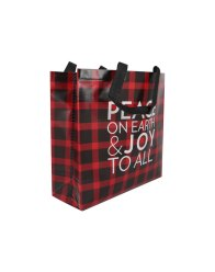 Non-woven bag made from recycled plastic with holiday print