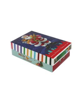 Laminated cardboard gift box with print