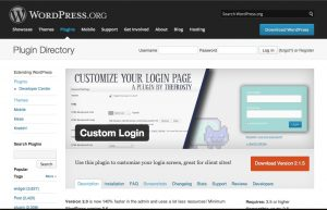 WordPress Custom Login plugin, to customize the login and register screens.