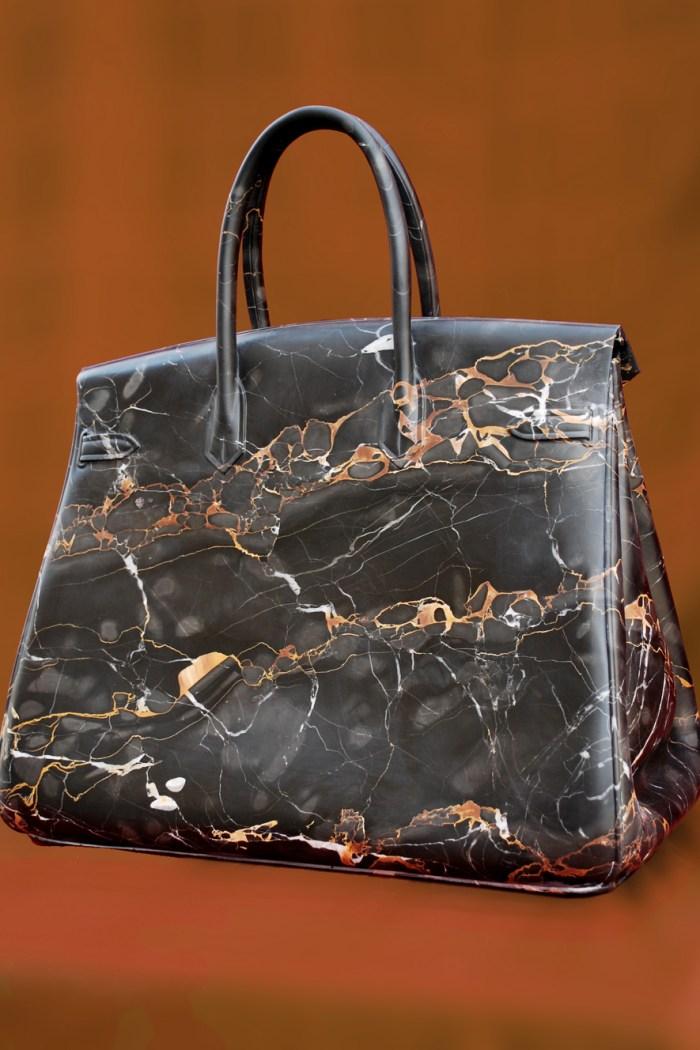 Art Peeper: Barbara Segal's Marble Hermes Birkin Bags