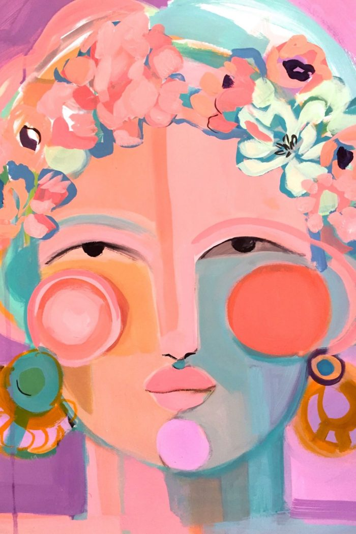 Art Finds: Colorful Portraits By Artist Hayley Mitchell