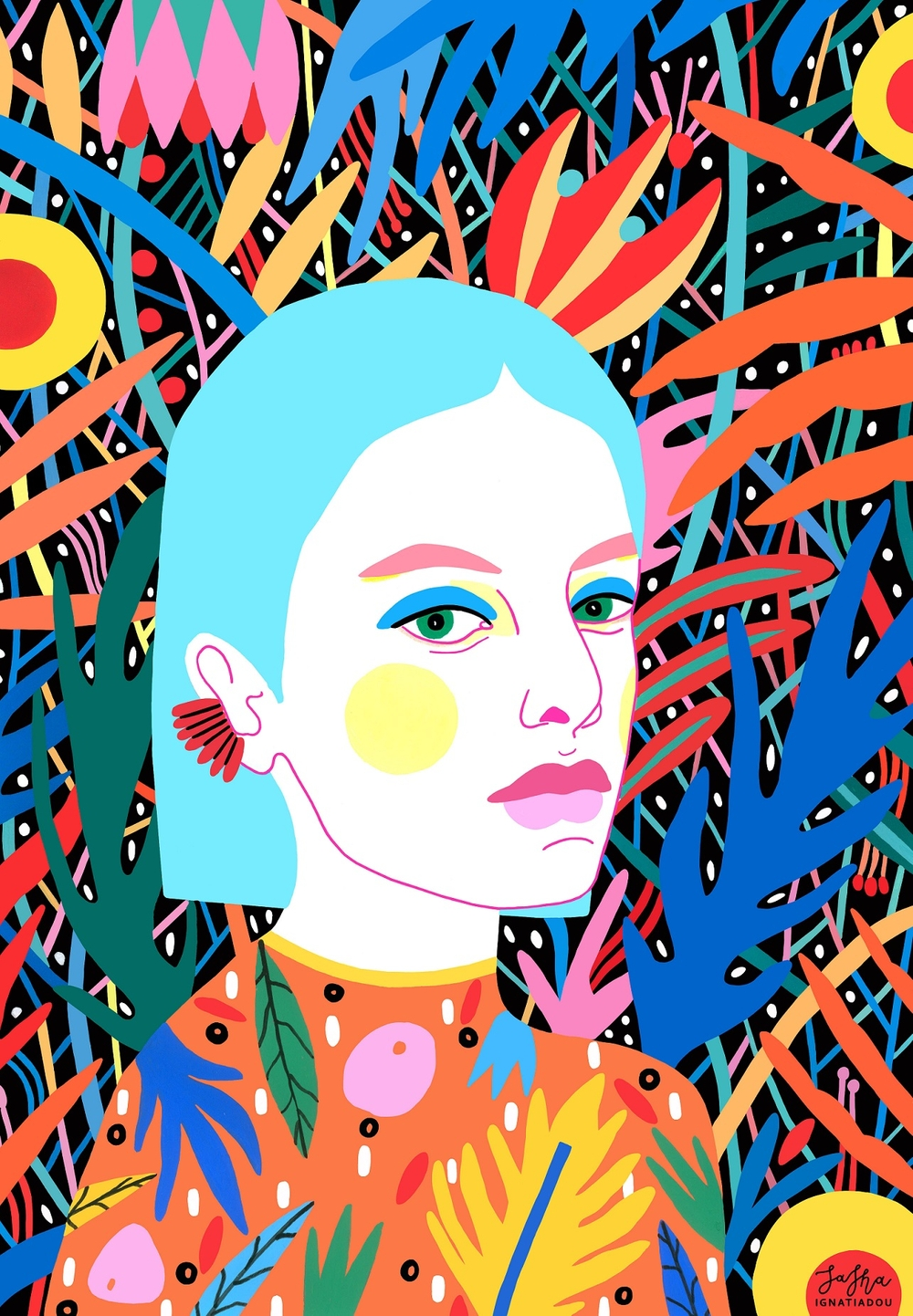 Illustrations from Sasha Ignatiadou- Design Peeper