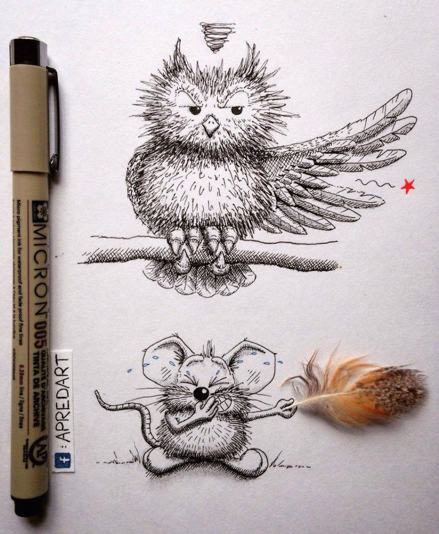 Rikiki Mouse Drawings By Apredart Design