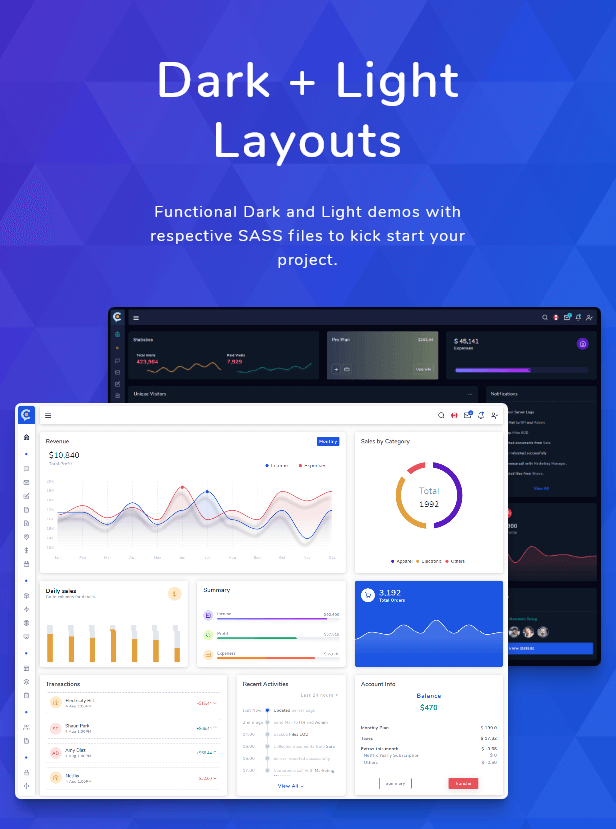, Cork – HTML and Laravel Bootstrap Admin Dashboard Template, Laravel & VueJs