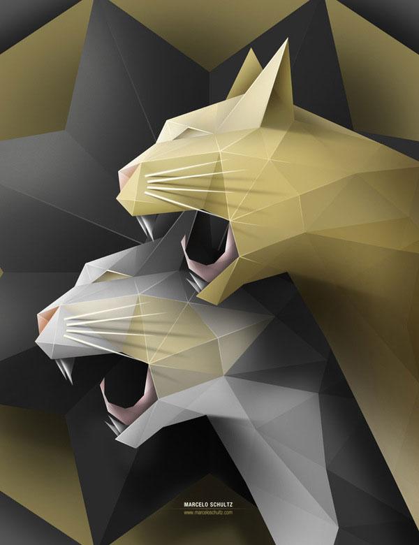 Geometric Cats Brazilian Designer Inspiration