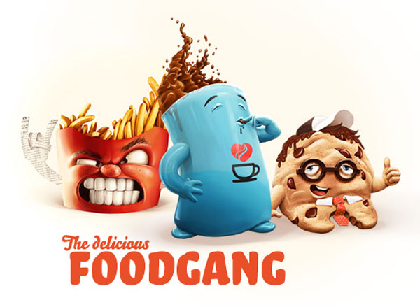 The Food Gang Character Design Inspiration