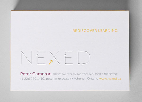 NEXED Business Card Print Design Inspiration
