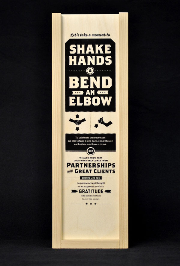 Shake Hands & Bend an Elbow Gift Print Design Inspiration