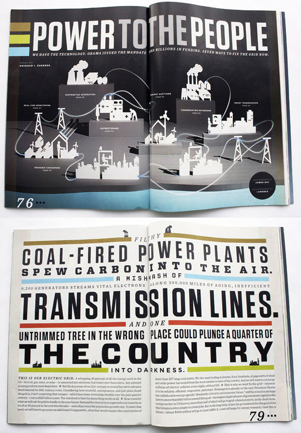 Wired Magazine Print Design Inspiration