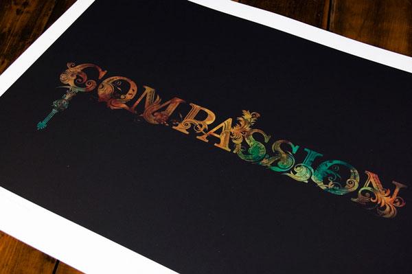 Inspiring Words Series - Compassion Print Design Inspiration