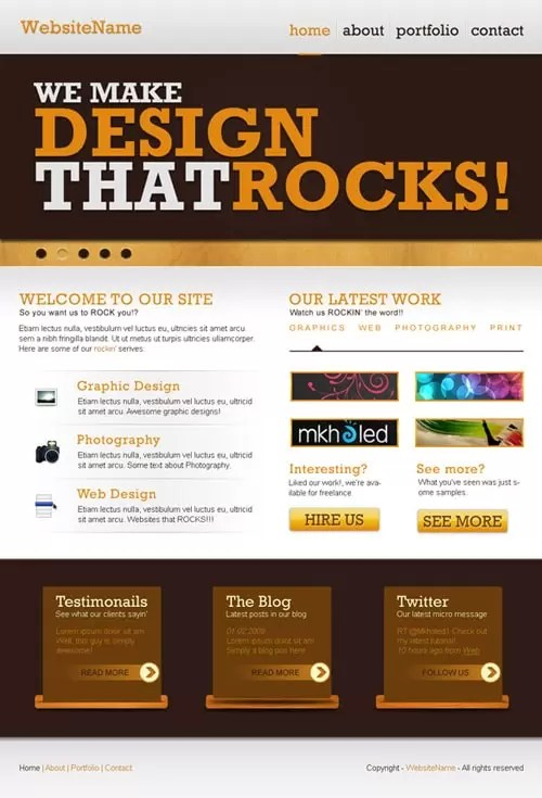 How To Create a Rockin' Website Layout In Photoshop