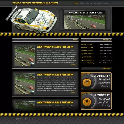 Create a Racing Website | Denis Designs