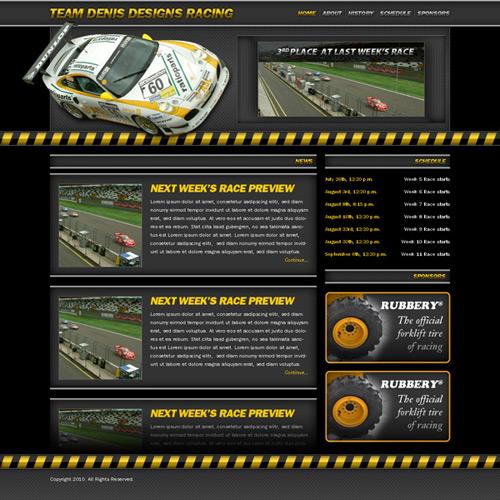 Create a Racing Website | Denis Designs