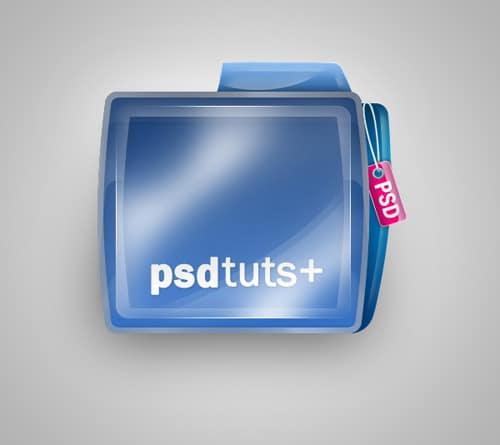 Create a Shiny Psdtuts+ Folder Icon in Photoshop