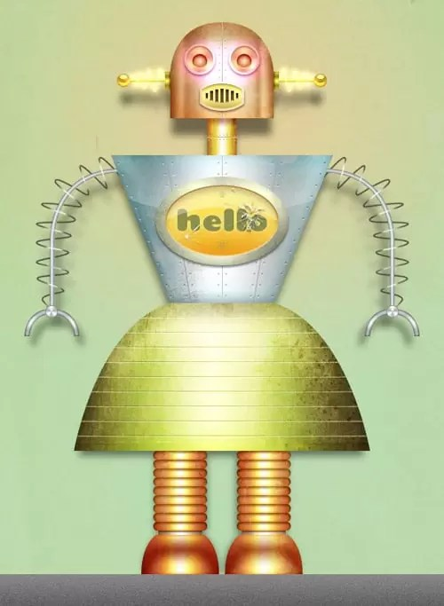 Create a Textured Female Robot in Photoshop
