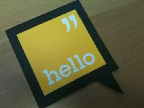 Business Card for: Hello