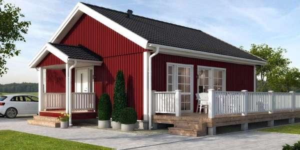 Проект небольшого одноэтажного финского дома Ёхти