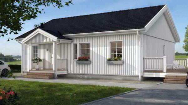 Одноэтажный проект финского дома с сауной Ярви   designs ...